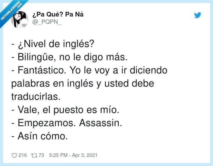 asín como,assassin,bilingüe,fantástico,traducir