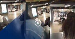 Enlace a Les pillaron robando en el metro y pelearon con los de seguridad, mientras, la gente miraba, uno de los ladrones estaba asfixiando al seguridad, por @BCNCreatures
