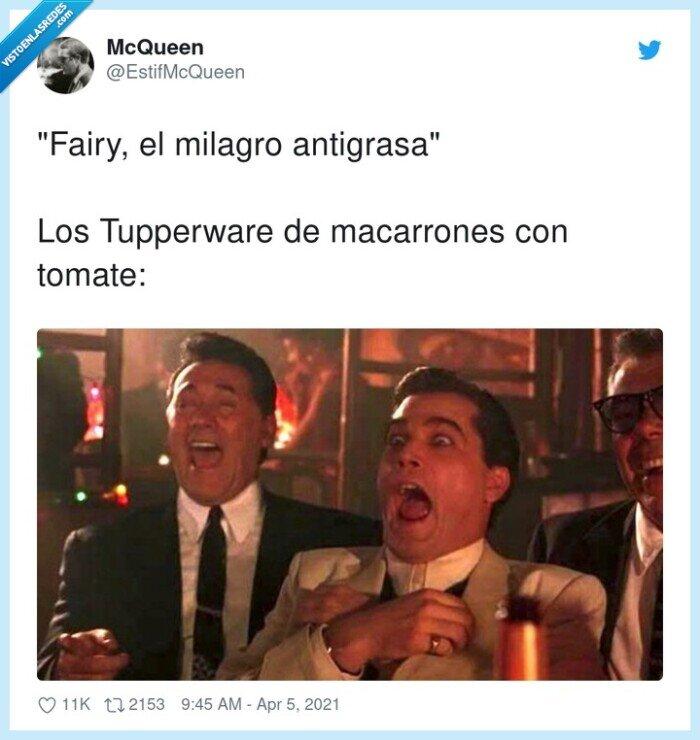 antigrasa,fairy,macarrones,milagro,tomate,tupperware