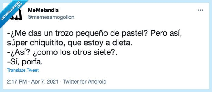 Dieta,pastel,trocito