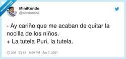 Enlace a No me engañes Puri, tutela comió y y me lo quires decir, por @kondonsito