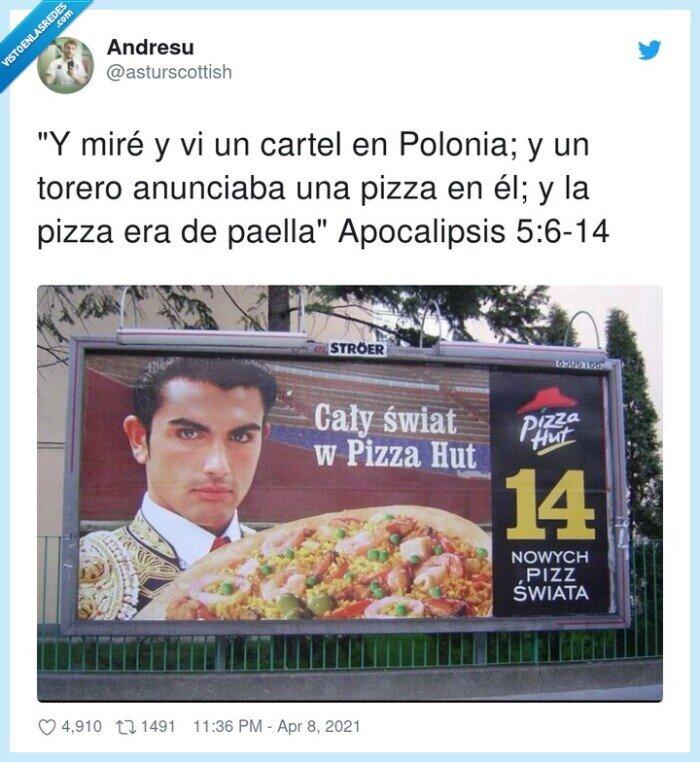 anuncio,apocalipsis,cartel,paella,polonia,torero