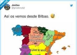 Enlace a Cómo ven los de Bilbao al resto de España, por @giradonuts2