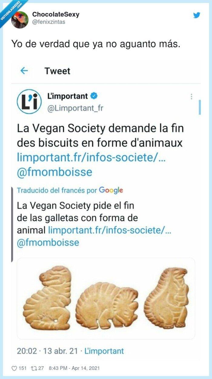 dinosaurus,galletas,prohibir,veganos