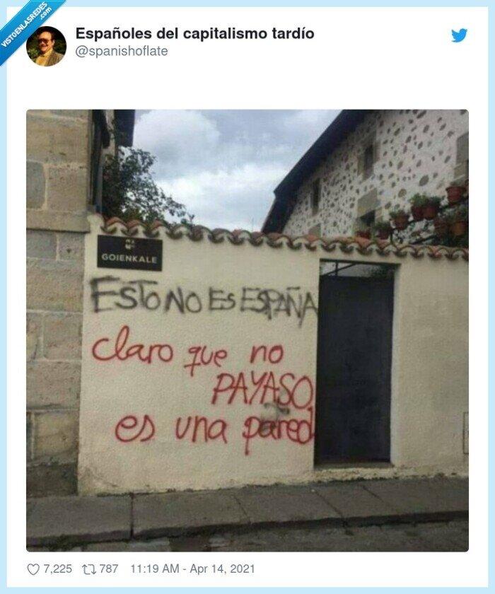 españa,pared,payaso