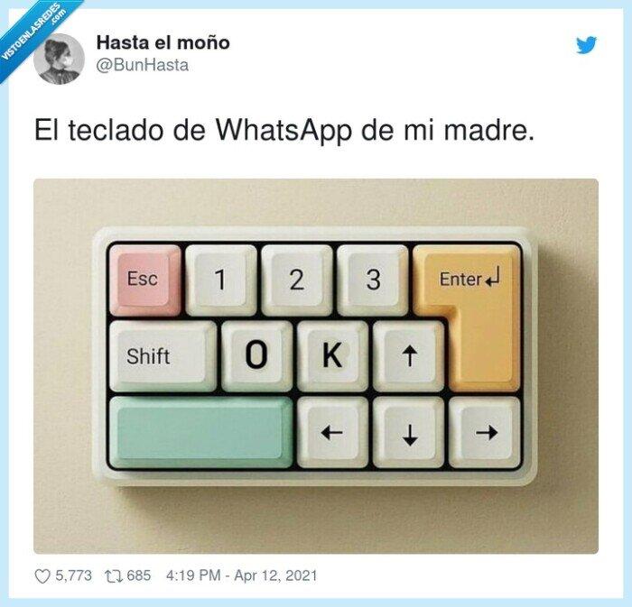 madre,teclado,whatsapp