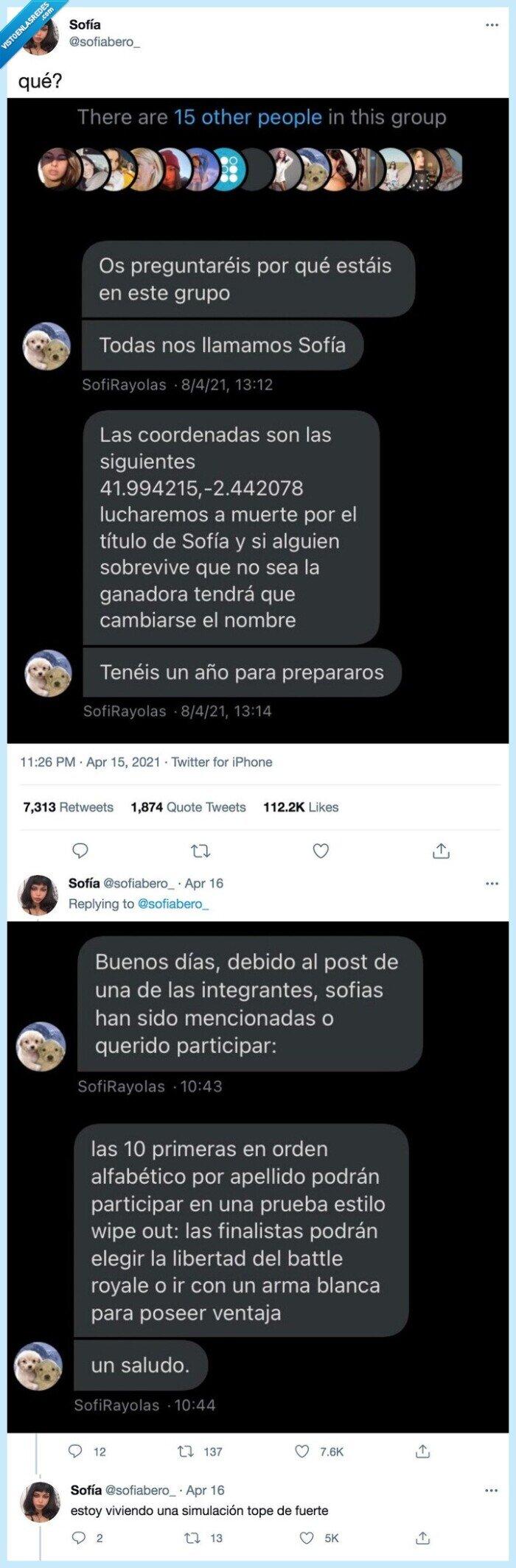 860114 - Una nueva moda invade instagram: la gente cita a gente con su mismo nombre para hacer una lucha a muerte y solo quede uno con el nombre, por @sofiabero_