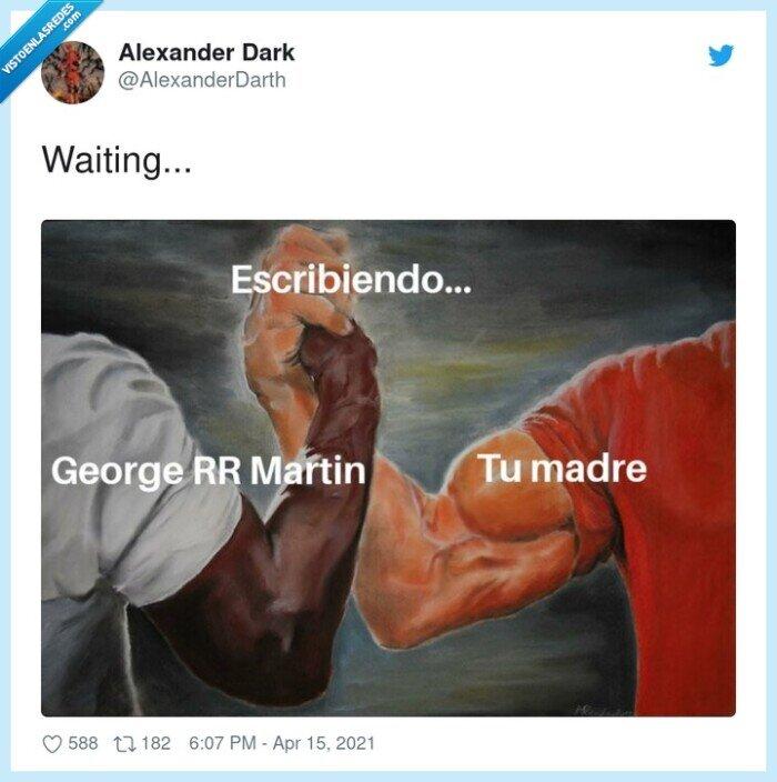 escribiendo,george rr martin,madre,whatsapp