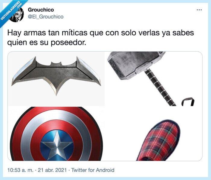 armas,batman,capitan america,madre,míticas,poseedor,thor