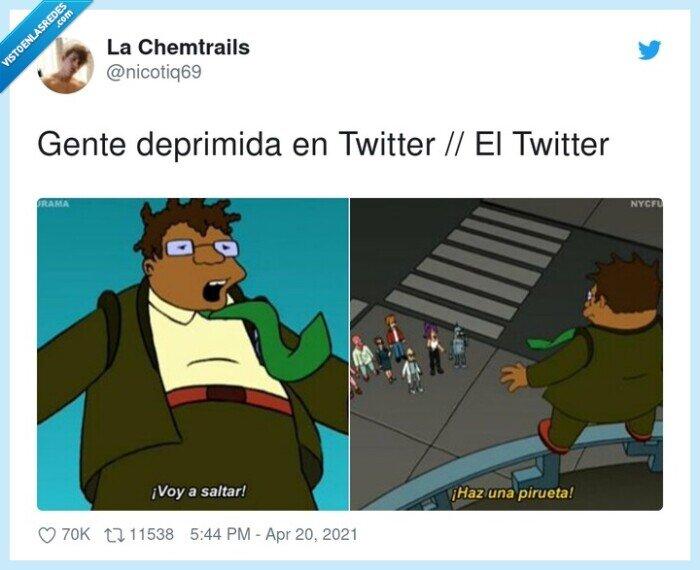 depresión,pirueta,twitter
