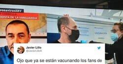 Enlace a Este señor va a vacunarse con esta camiseta y pone en alerta a todos los de su quinta, por @JavierLilloA