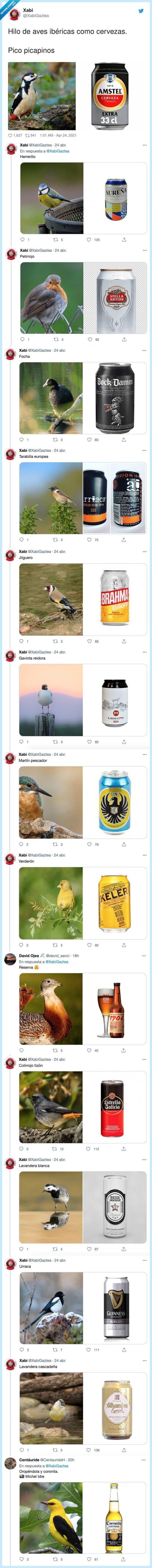 866839 - Hilo de aves ibéricas como cervezas, mezclando dos hobbies, por @XabiGaztea