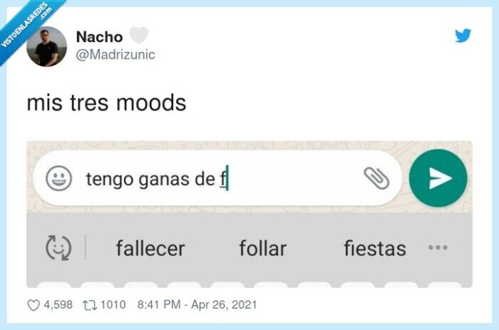 fallecer,fiestar,foIIar,moods,tres