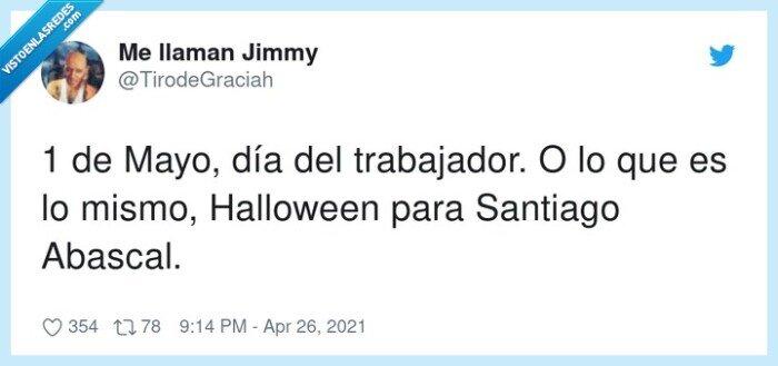 1 de mayo,halloween,santiago abascal,trabajador