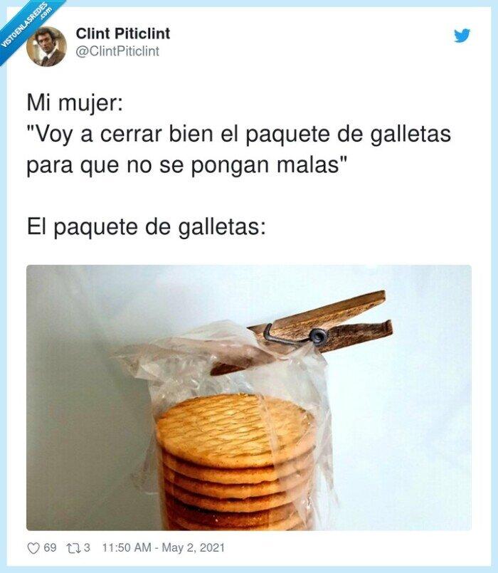 cerrar,galletas,paquete