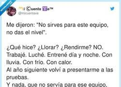 Enlace a No te rindas, por @micuentave