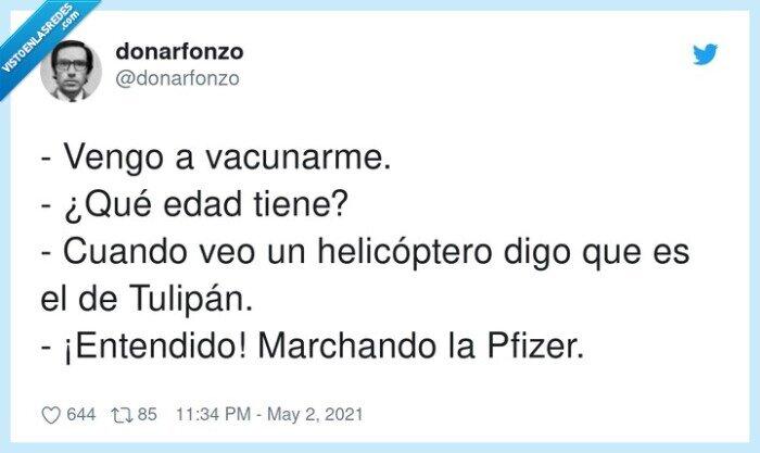 helicóptero,tulipán,vacunar