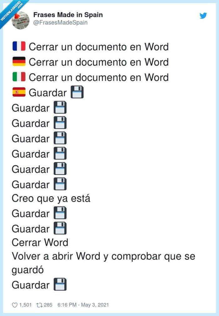 comprobar,documento,guardar,word