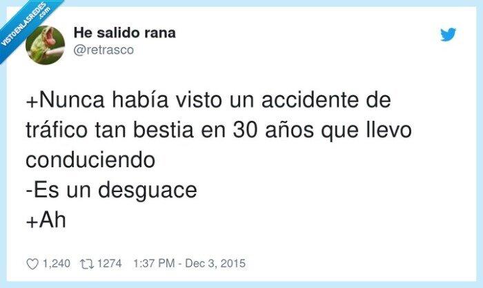accidente,desguace,tráfico