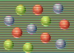 Enlace a Así es la nueva ilusión óptica que hace ver esferas de distintos colores cuando realmente son solo de un color