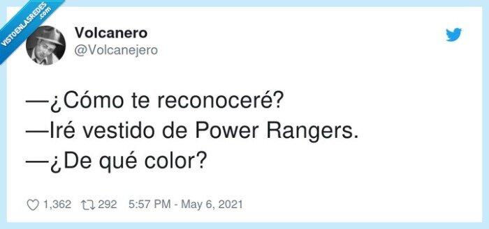 color,power rangers,reconocer,vestido