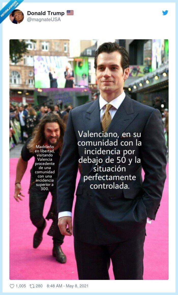 contagios,coronavirus,madrid,por detras,superman,susto,valencia
