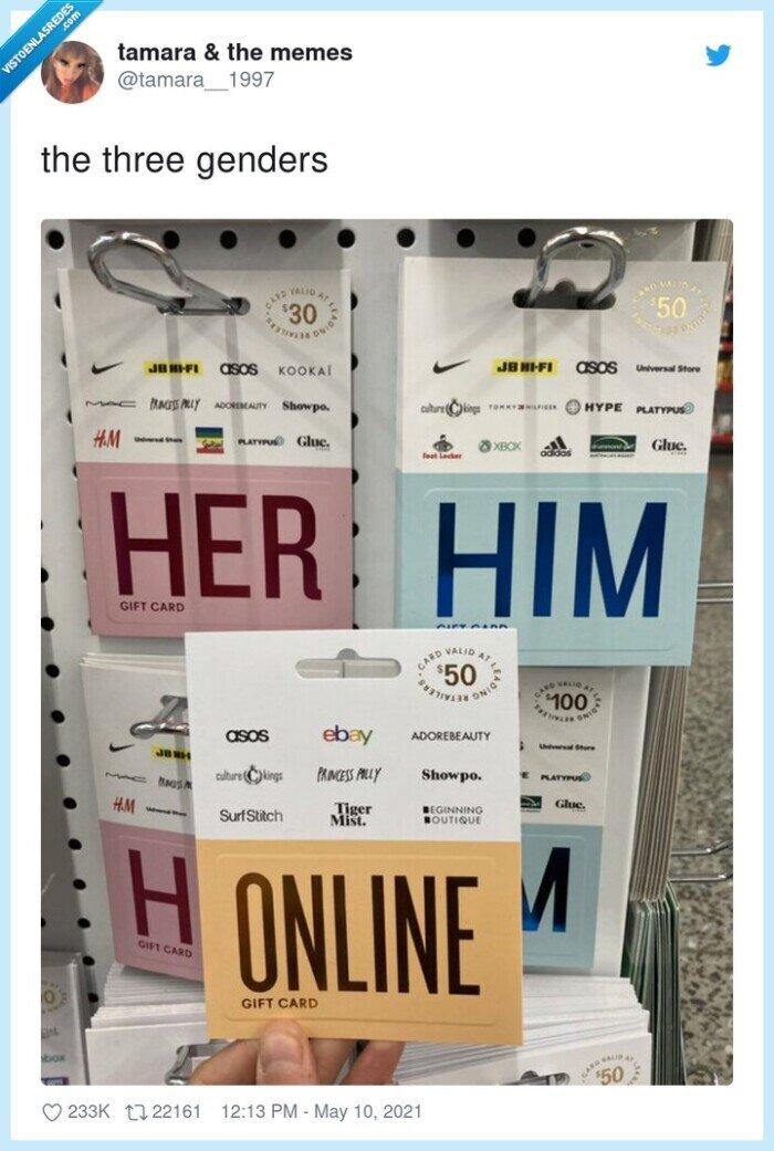 él,ella,géneros,online,tres