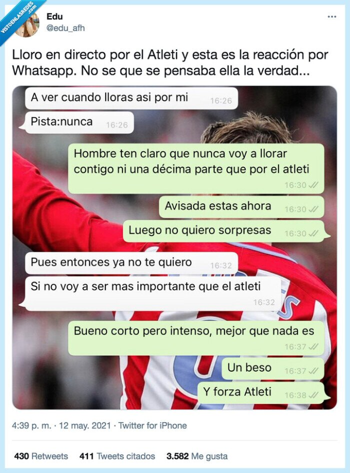 atleti,directo,pareja,reacción,whatsapp