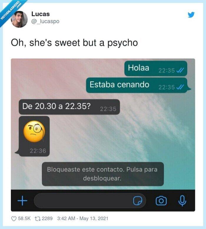 comer,contol,horas,psicopata,psycho,whatsapp
