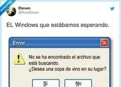 Enlace a El Winedows, por @RareEleven