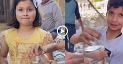 Enlace a Niños Palestinos alegres porque salvaron a los peces del bombardeo contra su hogar, por @HoyPalestina