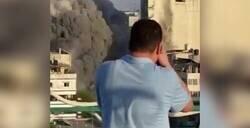 Enlace a El estremecedor vídeo que un fotoperiodista graba a escasos metros de un bombardeo de Israel