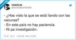Enlace a Ni paciencia ni pa investigación, por @NOROBESPIERRE