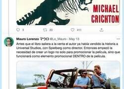 Enlace a El brutal hilo sobre la creación del logo de Jurassic Park que está triunfando en Twitter, por @Lo_Mauro