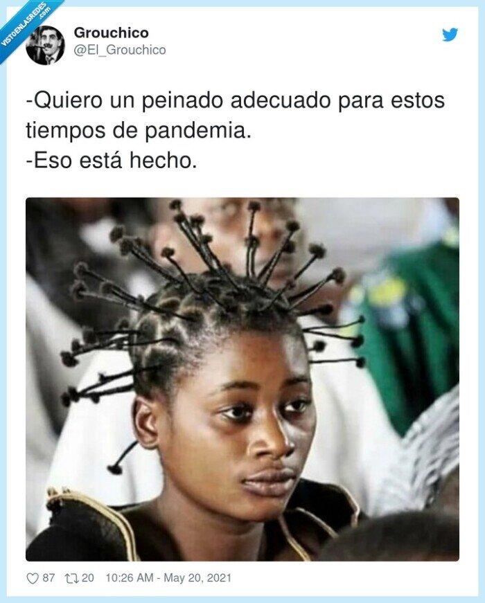 adecuado,coronavirus,pandemia,peinado