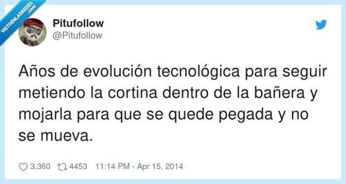 bañera,cortina,evolución tecnológica,meter,mojarla