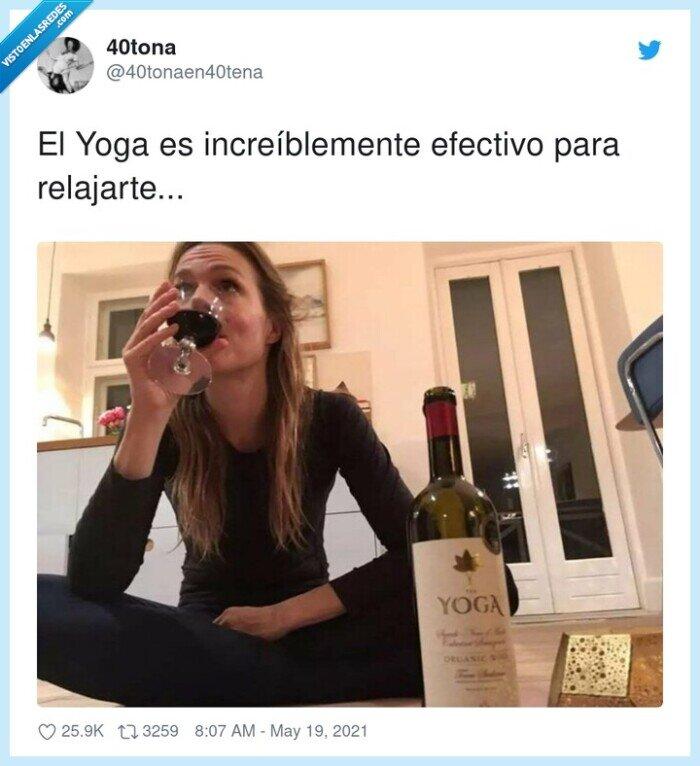 copa,relajarse,vino,yoga
