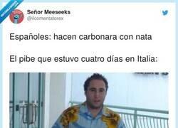Enlace a Los carbonara auténticos son sin nata, por @ilcomentatorex