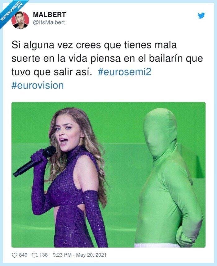 #eurosemi2,#eurovision,alguna,bailarín,suerte,tienes