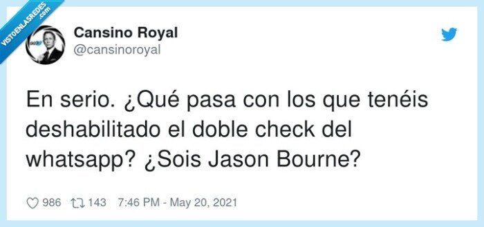 bourne,deshabilitado,doble check,whatsapp