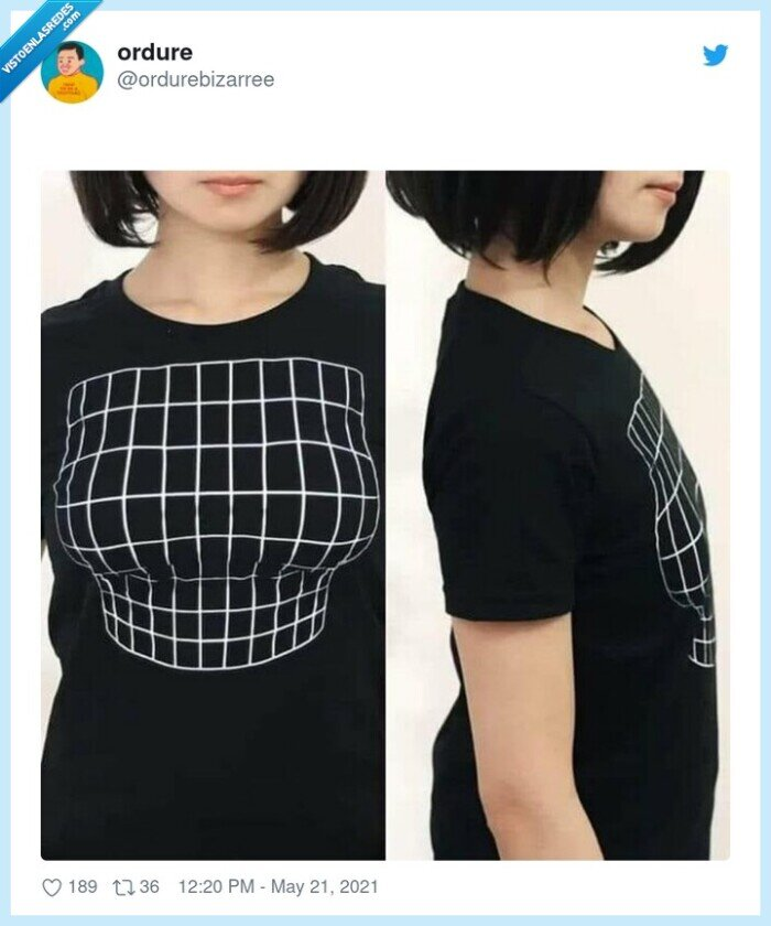 bulto,camiseta,efecto óptico