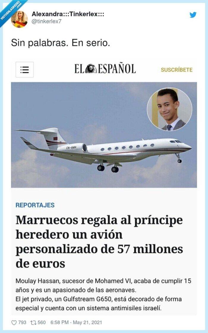 avión,marruecos,príncipe heredero