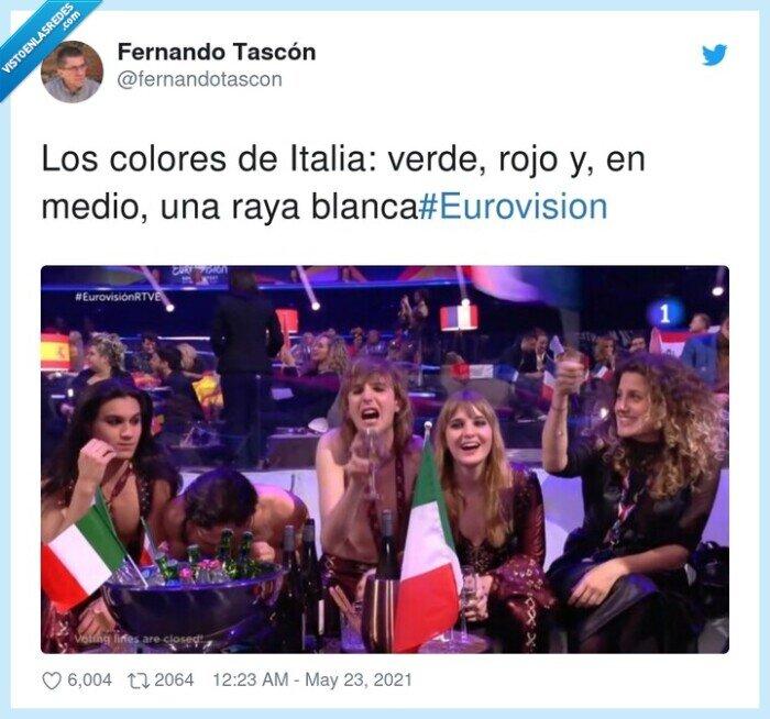 #eurovision,blanca,colores,italia,medio,verde
