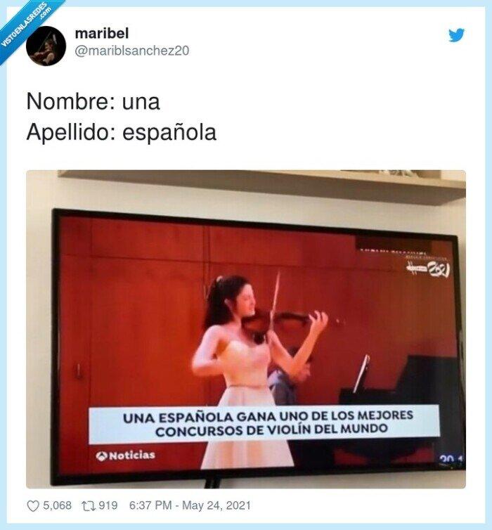 concurso,Maria Dueñas,violin