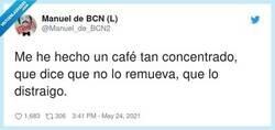 Enlace a Si está concentrado de verdad, no se distrae ni aunque lo remuevas, por @Manuel_de_BCN2