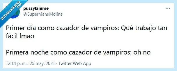 cazador,día,noche,vampiros