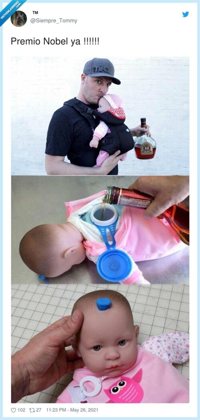 bebé,beber,nobel,petaca,premio