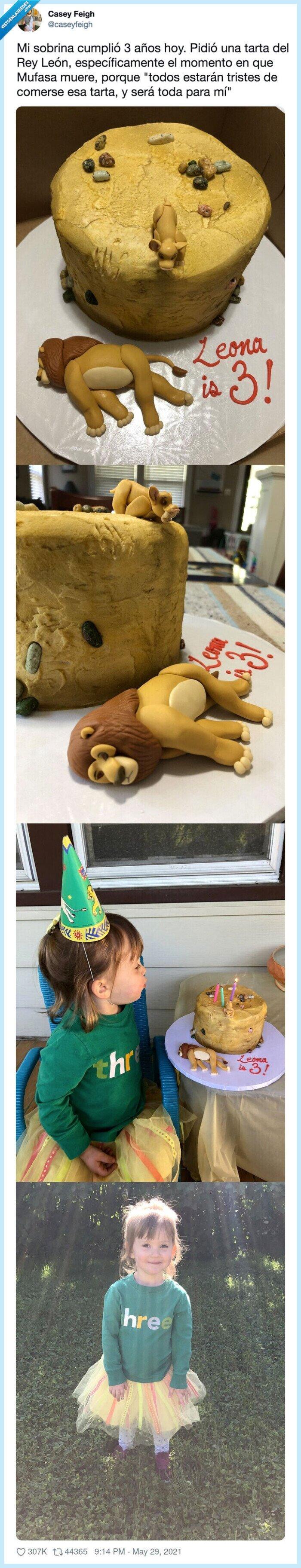 el rey león,muerte,mufasa,tarta