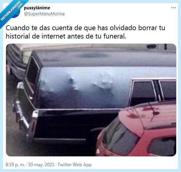 borrar,funeral,historial,internet,olvidado