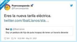 Enlace a Ibai = nueva tarifa eléctrica, por @Puercoespanda